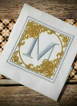 MONOGRAMMED Set HAND TOWELS EMBROIDERED BEAUTIFUL