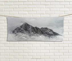 Anniutwo Mountain,Hand Towel,Landscape Jade Dragon Mountain