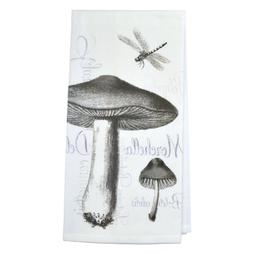 Montgomery Street Designs Mushrooms and Dragonfly Cotton Flo