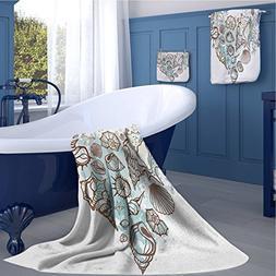familytaste Nautical Print bathroom accessories set Hand Dra