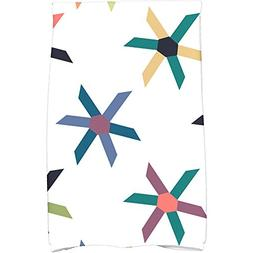 1 Piece Navy Blue Pinwheel Pop 16 X 25 Inches Hand Towel, De
