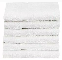 New 12 Pieces White 16 x 27 100% Cotton Blend Salon Towels G