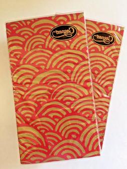 NEW 2 PKG CASPARI 3 Ply HAND GUEST TOWELS Holiday Everyday B
