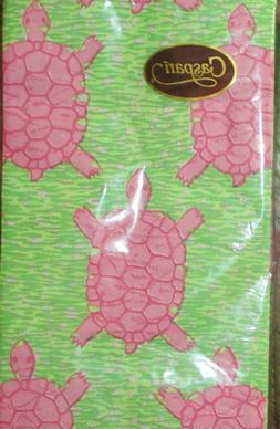 NEW! 2 Pks CASPARI TURTLE SEA 3 PLY GUEST NAPKINS BEACH - 15