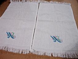 NEW 2 Velour Fingertip Towels,12 X 16 Will Embroider With In