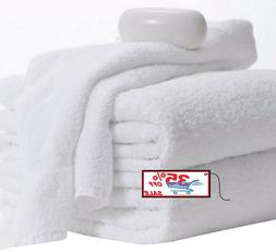 12 pack hand towels 16x27 inches white 3lbs 100% cotton gym
