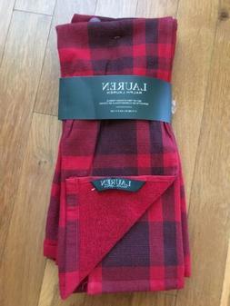 New Ralph Lauren Plaid  Kitchen Hand Dish Towels Set of 2