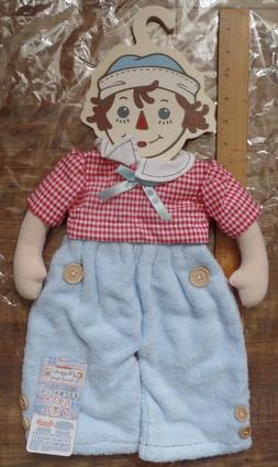 NEW Raggedy Ann's  Andy Wooden Towel Hanger Cloth Doll Body