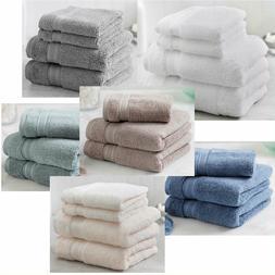 New Charisma Soft 100% Hygro Cotton 4-piece Hand & Washcloth