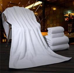 New Soft Absorbent Pure Cotton Luxury White Large Hand Bath