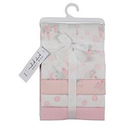 Nicole Miller New York 4 Pack Infant Girls Receiving Blanket