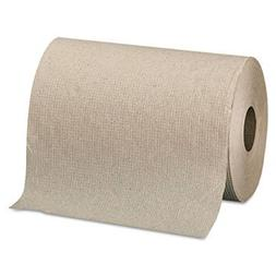 Nonperforated Paper Towel Rolls, 7 7/8 X 350ft, Brown, 12 Ro