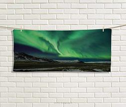 Anniutwo Northern Lights,Hand Towel,Flash Aurora Polaris Abo