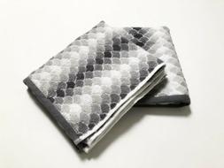 NWT Caro Home 2PC Fish Scale Print Hand Towels Salina Radian