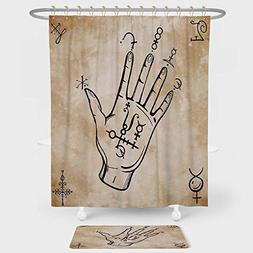 occult decor shower curtain floor