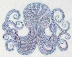 OCTOPUS ELEGANCE SET OF 2 BATH HAND TOWELS EMBROIDERED BY LA