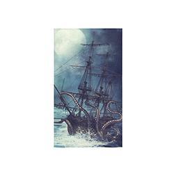 InterestPrint Octopus Kraken Sail Pirate Ship Boat Ocean Sea