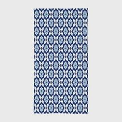 One Side Printing Hotel SPA Beach Pool Bath Hand Towel,Indig