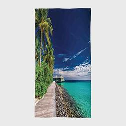 One Side Printing Hotel SPA Beach Pool Bath Hand Towel,Ocean