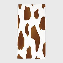 One Side Printing Hotel SPA Beach Pool Bath Hand Towel,Cow P