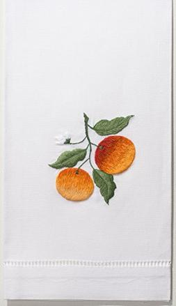 Henry Handwork Oranges Hand Towel, Set of 2