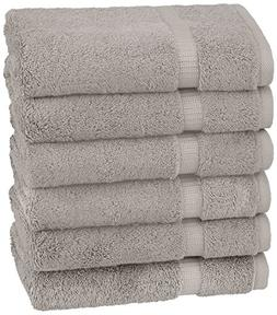 Pinzon Organic Cotton Hand Towels , Marble Grey