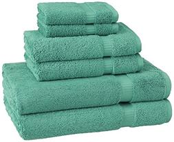 Pinzon Organic Cotton Towels 6 Piece Set, Mineral Green