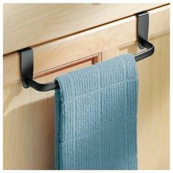 mDesign Kitchen Over Cabinet Metal Towel Bar - Hang on Insid