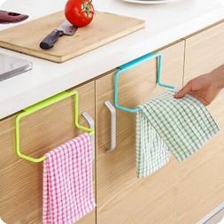 Over Door Kitchen Hand Towel Rack Bathroom Cabinet Hanging H