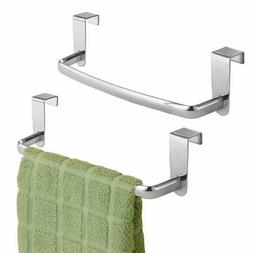 mDesign Over-the-Cabinet Kitchen Dish Towel Bar Holder - Pac