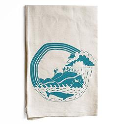 Pacific Coast Explorer Screen Printed Flour Sack Tea Towel