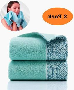 Pack of 2 Premium Cotton Hand Towels 14 x 30 Inches 600 GSM
