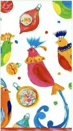 Caspari Painted Partridges Christmas Guest Towels Dinner Nap