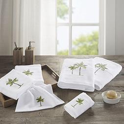 Palm  Cotton Bathroom Towels , Washable Bath Towel Set , 6-P