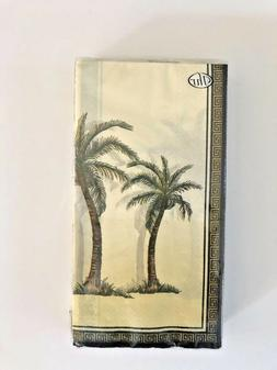 Palm Tree Guest Buffet Hand Towels Napkins Party Paper Set o
