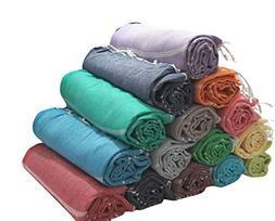 Paramus SALE Set of 6 XL Turkish Cotton Peshtemal Towels, Ha