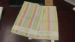 Pastel / Easter Striped Hand Towel