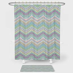 pastel shower curtain floor mat