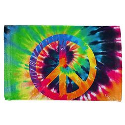 Old Glory Peace Sign Tie Dye All Over Hand Towel Multi Stand