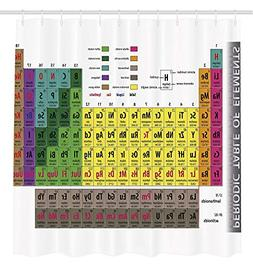 Shower Curtain Periodic Table of Elements PHD Gifts Chemistr