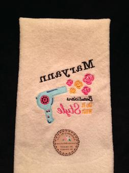Personalized * Monogrammed Beautician Hand Towel Made To Ord