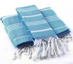 2 Pieces Pestemal Turkish Towel Set - 1 Bath Towel 37x70 + 1