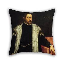 TonyLegner Pillow Covers Oil Painting Jacopo Robusti, Tintor