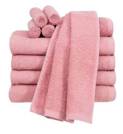pink 10 piece towel set 100 percent