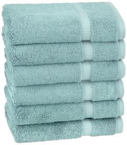 Pinzon Organic Cotton Hand Towels , Spa Blue
