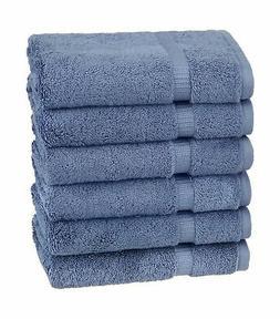 Pinzon Organic Cotton Hand Towels , Indigo Blue