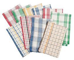 WalterDrake Plaid Kitchen Towels, Set of 10