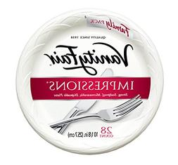 "Vanity Fair Impressions Dinner Plates, 10 1/8"", 28 Count, Di"