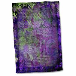 3dRose Plum Purple and Lime Green Diamond Abstract Design wi