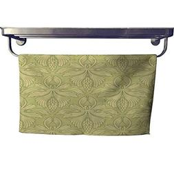 homecoco Quick-Dry Towels Natural Vintage Wallpaper Towel W